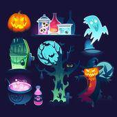 Halloween decorations illustrations