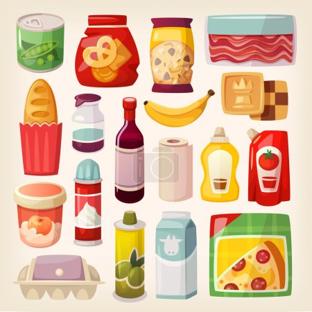 Colorful product icons