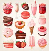 Strawberry flavor desserts