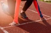 Woman run training outdoors.