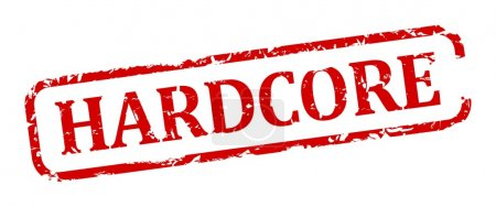Photo pour Damaged oval red stamp with the words - hardcore - illustration - image libre de droit