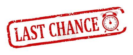 Photo pour Timbre ovale rouge endommagé avec l'inscription - dernière chance - illustration - image libre de droit