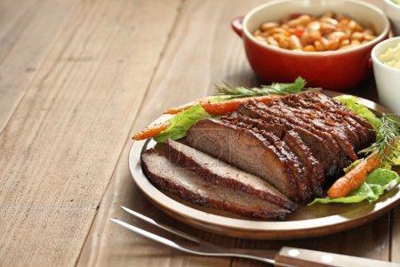 Photo pour Brise de bœuf barbecue, style texas - image libre de droit
