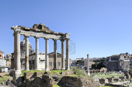 The Forum Romanum with at left foreground theTempl...