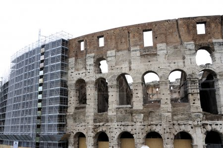 Photo for Scaffolds at the Coliseum in Rome, Italy - Royalty Free Image