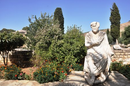 Statue from Archaeological site Gortyn Crete Greece