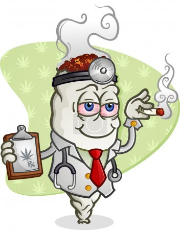 Medical Marijuana Doctor Cartoon Character