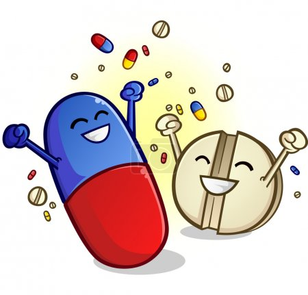 Happy Pills Cartoon Characters