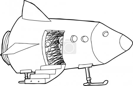 Outlined Pilots in Spacecraft