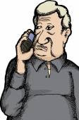 Hand Drawn Man on Phone