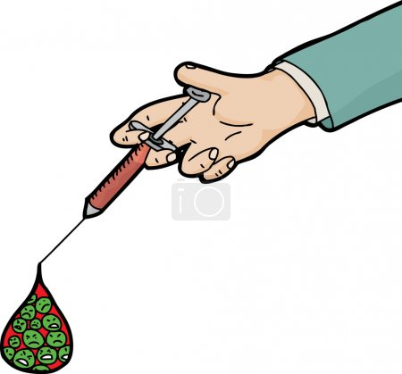 Syringe with Sick Blood Cells