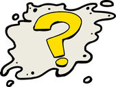 Single isolated yellow question mark symbol over white