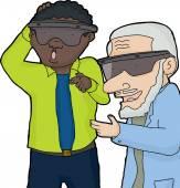 Two Men in Virtual Reality