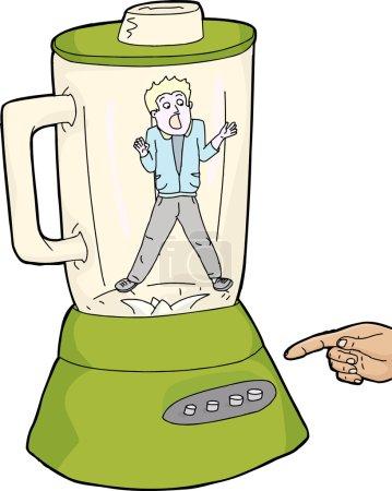 Person Stuck Inside Blender