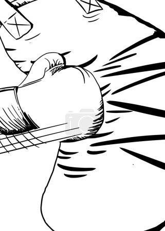 Outline of Glove Hitting Bag
