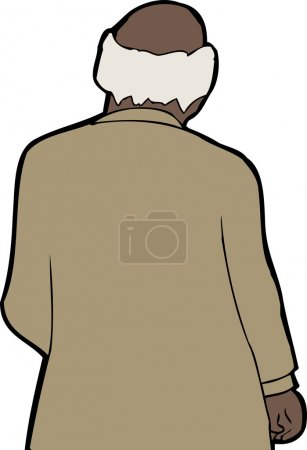 Rear View of Balding Businessman