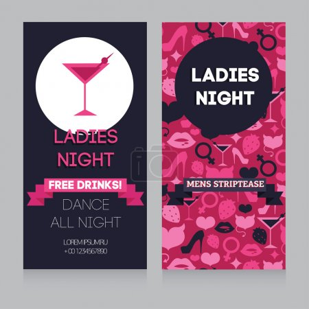 Girls only party invitation template
