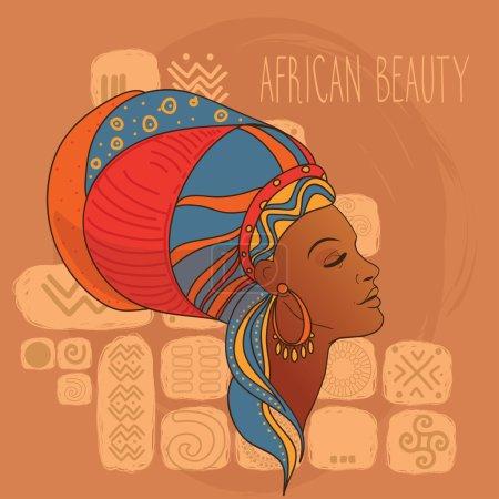 Beautiful African American woman's profile