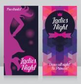 """Постер, картина, фотообои """"Шаблон для дамы ночь приглашение"""""""