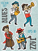 jazz or blues music band