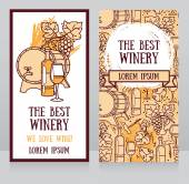 Business cards template for the best winery or wine shop