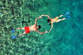 Romantic couple snorkeling in Thailand