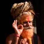 KATHMANDU - OCT 8: Sadhu at Pashupatinath in Kathm...