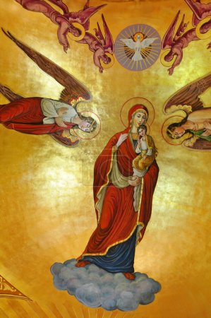 Paintings in a Greek Catholic church in Romania