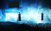 Feiernden Menge bei einem Konzert