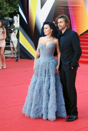 Anastasiya Zavorotniuk and Piotr Charnyshov at Moscow Film Festival
