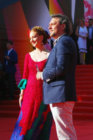 Actress Olga Budina at Moscow Film Festival