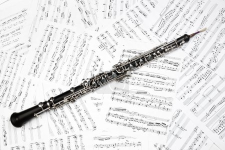 Oboe musical instruments music sheet