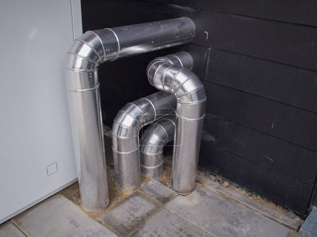 ventilation system metal pipes