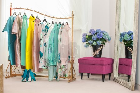 Photo for Interior of the luxury shop of fashionable clothes - Royalty Free Image