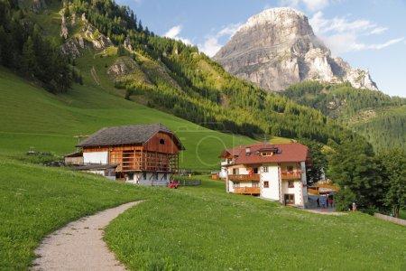 Footpath in alpine village
