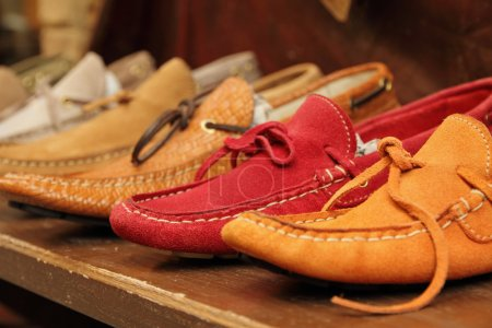 Colorful moccasins style shoes