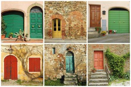 Italian doors collage, Tuscany...