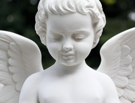 Beautiful cemetery angel statue