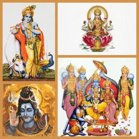 Hindu gods on tiles