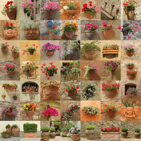 Flowerpots from italian gardens