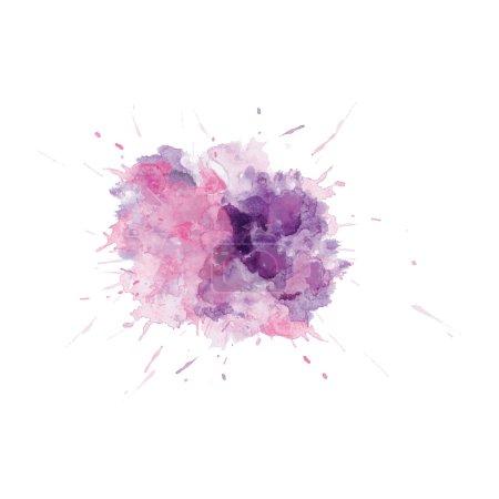 Illustration pour Tache vectorielle aquarelle fleur abstraite. adapté à une variété de modèles et scrapbooking . - image libre de droit