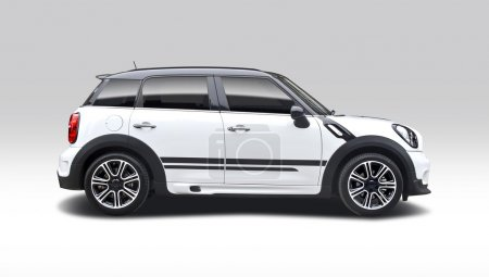 Photo for Mini Cooper Countryman isolated on white - Royalty Free Image