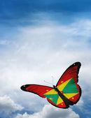 Grenada vlajka motýl