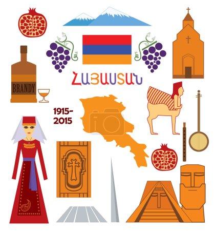 Armenia, set of icons