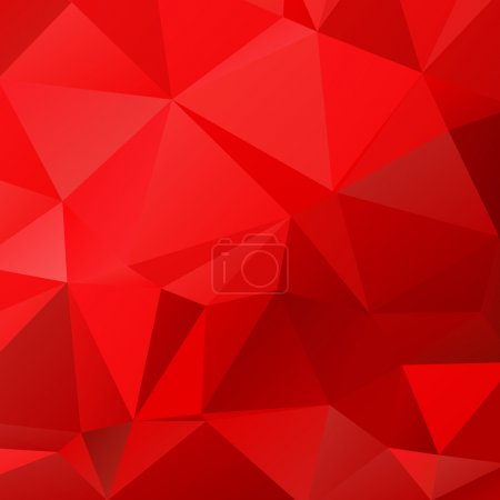 Illustration for Abstract polygonal background with light and dark red triangles. - Royalty Free Image
