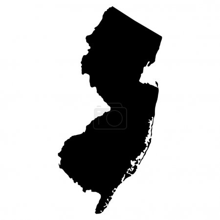 Map of the U.S. state of New Jersey...