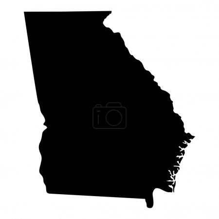 Map of the U.S. state of Georgia...