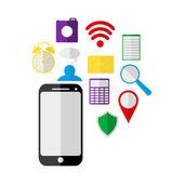 Mobilní telefon a ikony
