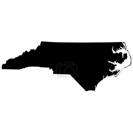 Map of the U.S. state of North Carolina...