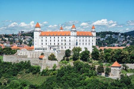 Bratislava castle in capital city of Slovakia